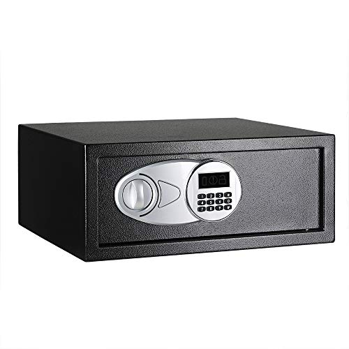Amazon Basics Steel, Security Safe Lock Box, Black - 0.7 Cubic Feet