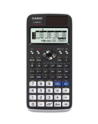 Casio FX-991EX Engineering/Scientific Calculator, Black, 3' x 6.5' x 0.4'