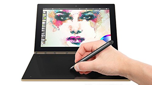 """Lenovo Yoga Book 10.1"""" 2 in 1 Convertible Full HD IPS Touchscreen Laptop/Tablet with Pen Stylus - Intel Quad-Core x5-Z8550, 4GB RAM, 64GB SSD, Halo Keyboard, 802.11ac, Bluetooth, Android- Gold"""