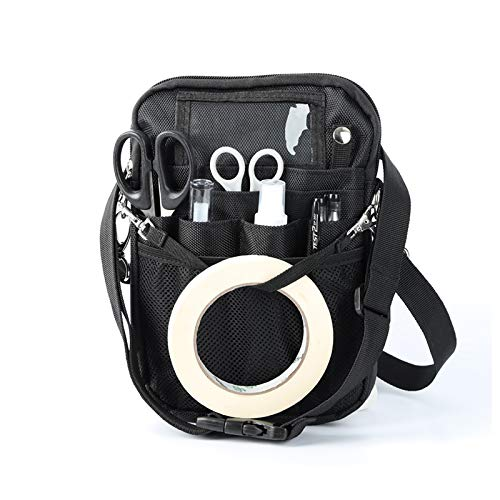 Nurse Fanny Pack with Tape Holder,Multifunctional Nurse Storage Bag, Multi-Compartment Poacket for Stethoscopes, Bandage Scissors and Other Medical Supplies, by GuangTouL