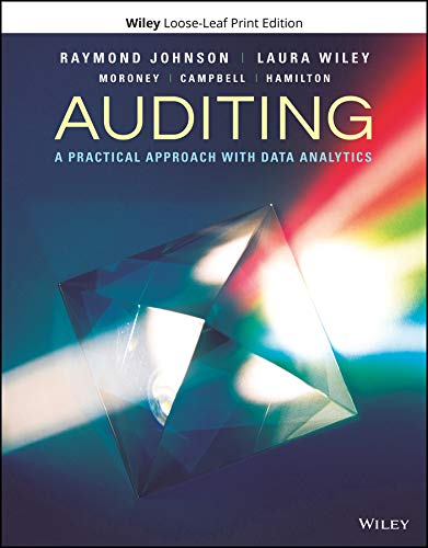 Auditing: A Practical Approach with Data Analytics