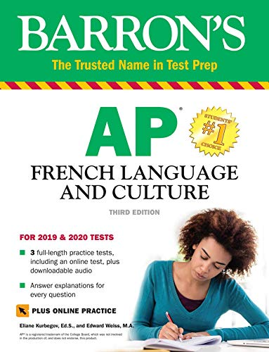 AP French Language and Culture with Online Test & Downloadable Audio (Barron's Test Prep)