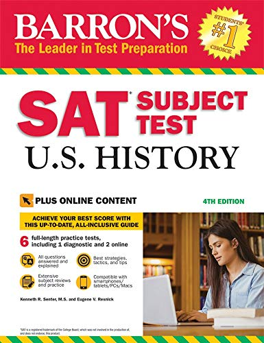SAT Subject Test U.S. History with Online Tests (Barron's Sat Subject Test U.S. History)
