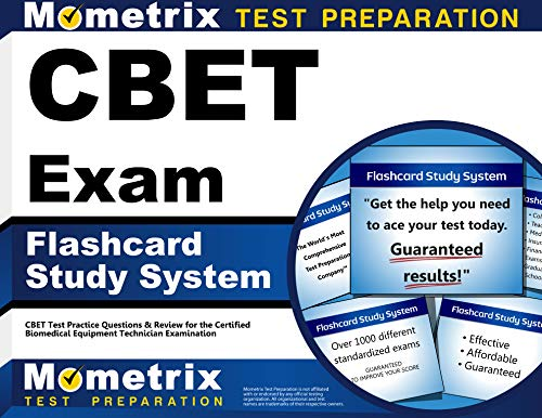 CBET Exam Flashcard Study System: CBET Test Practice Questions & Review for the Certified Biomedical Equipment Technician Examination (Cards)