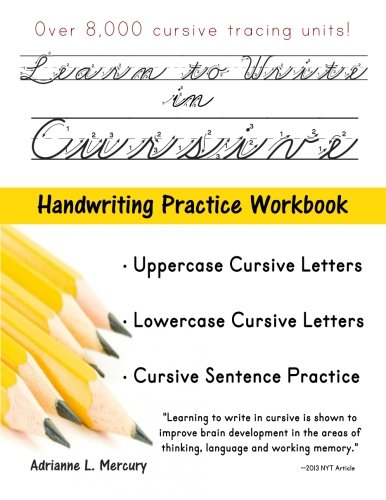 Learn To Write In Cursive: Over 8,000 Cursive Tracing Units