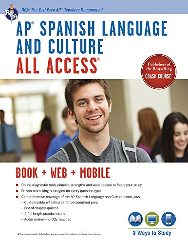 AP® Spanish Language and Culture All Access w/Audio: Book + Online + Mobile (Advanced Placement (AP) All Access) (English and Spanish Edition)