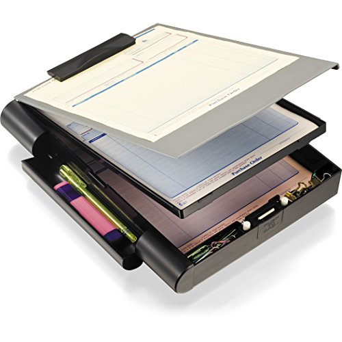 Officemate Recycled Double Storage Clipboard/Forms Holder, Plastic, Gray/Black (83357), (Model: OIC83357)