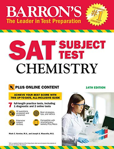 Barron's SAT Subject Test: Chemistry, 14th Edition: With Bonus Online Tests