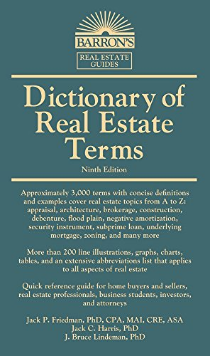 Dictionary of Real Estate Terms (Barron's Business Dictionaries)