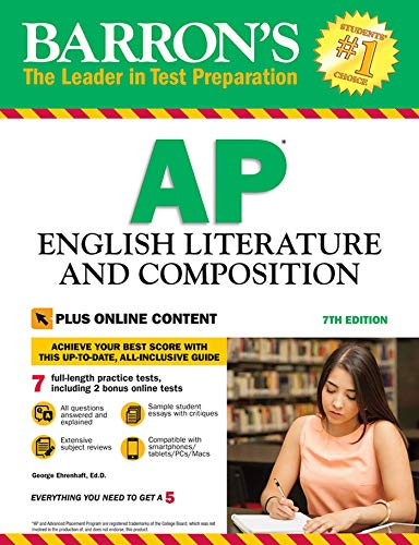 Barron's AP English Literature and Composition, 7th Edition: with Bonus Online Tests (Barron's Test Prep)