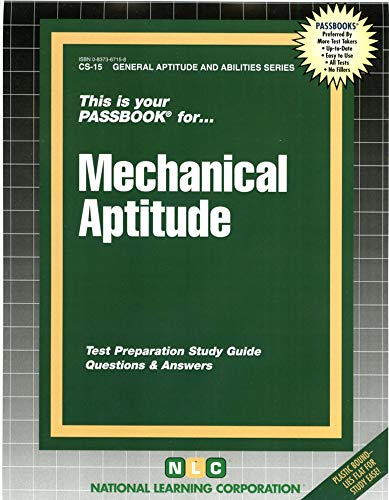 MECHANICAL APTITUDE (General Aptitude and Abilities Series) (Passbooks)