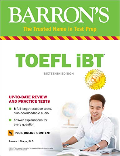 TOEFL iBT with Online Tests & Downloadable Audio (Barron's Test Prep)