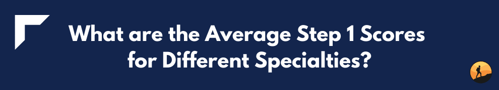 What are the Average Step 1 Scores for Different Specialties?