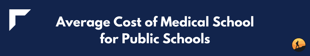 Average Cost of Medical School for Public Schools
