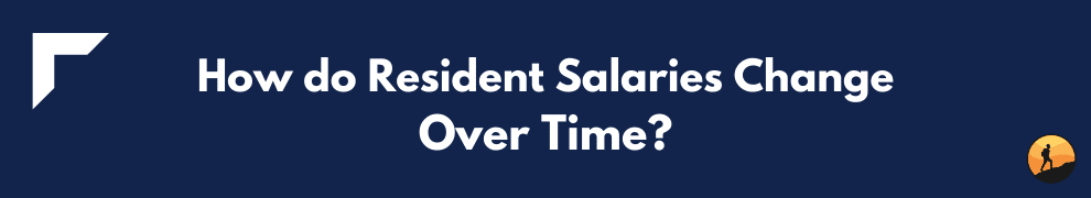 How do Resident Salaries Change Over Time?