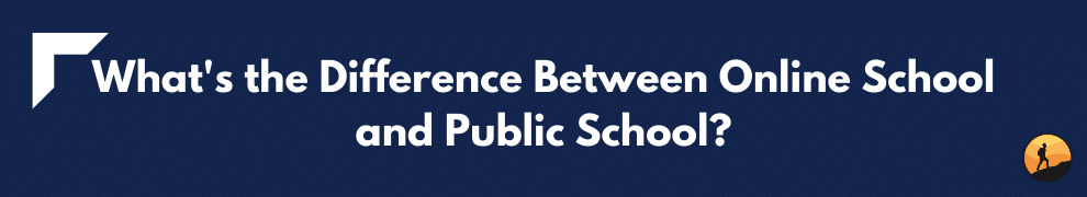 What's the Difference Between Online School and Public School?
