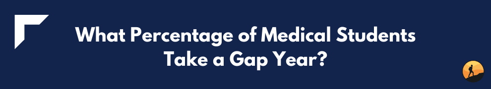 What Percentage of Medical Students Take a Gap Year?
